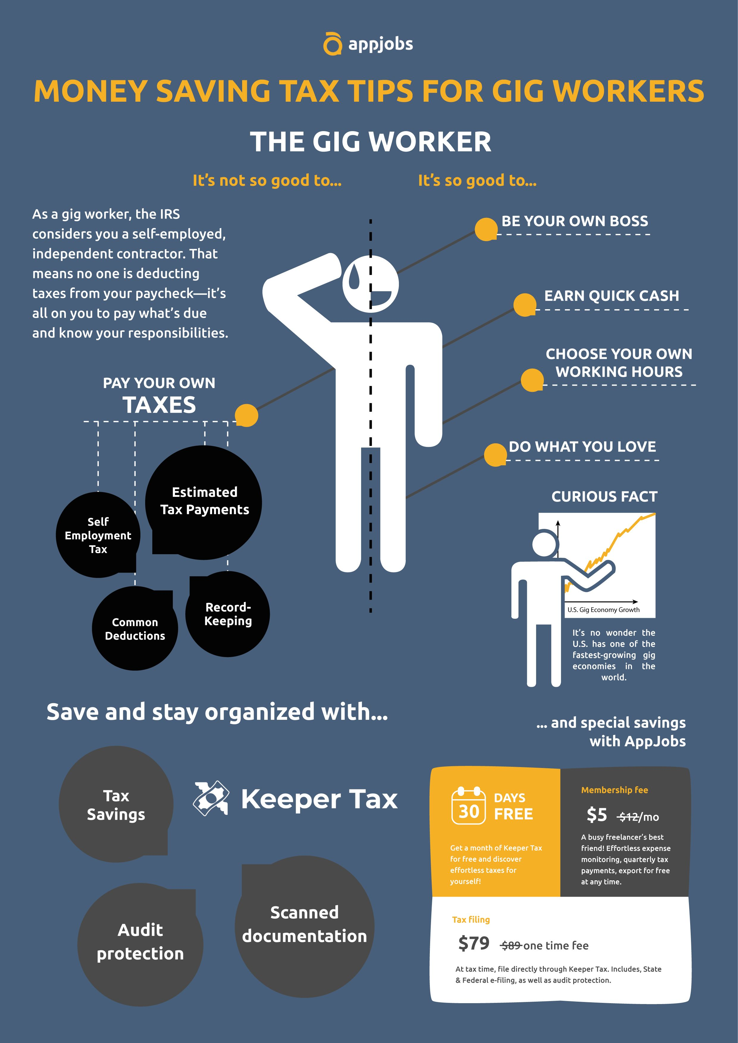 money saving tax tips for gig workers