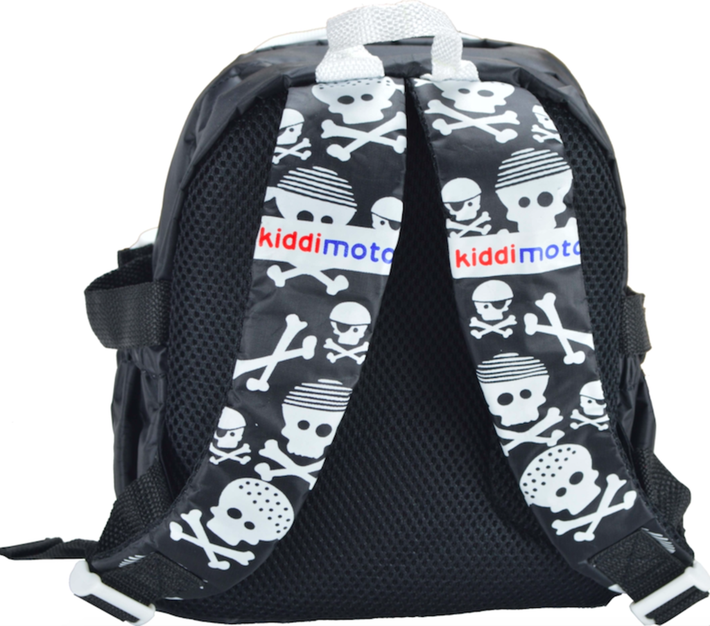 Kiddimoto Kids Backpack Black Skulls - Maxi