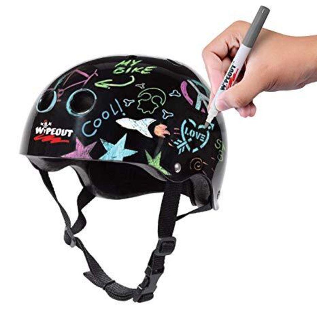 Wipeout Dry Erase Kids Helmet -Black  S