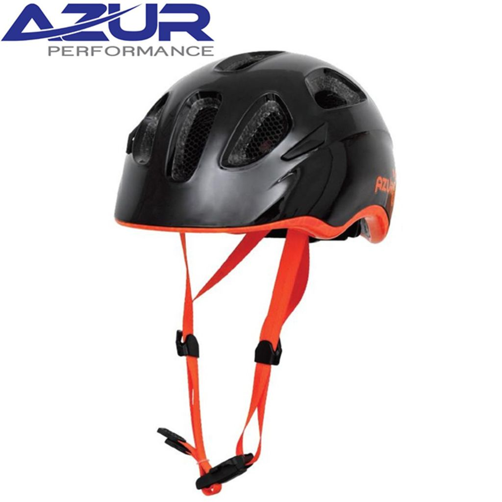 Azur T25 Helmet -Black/Orange  XS 46-50cM
