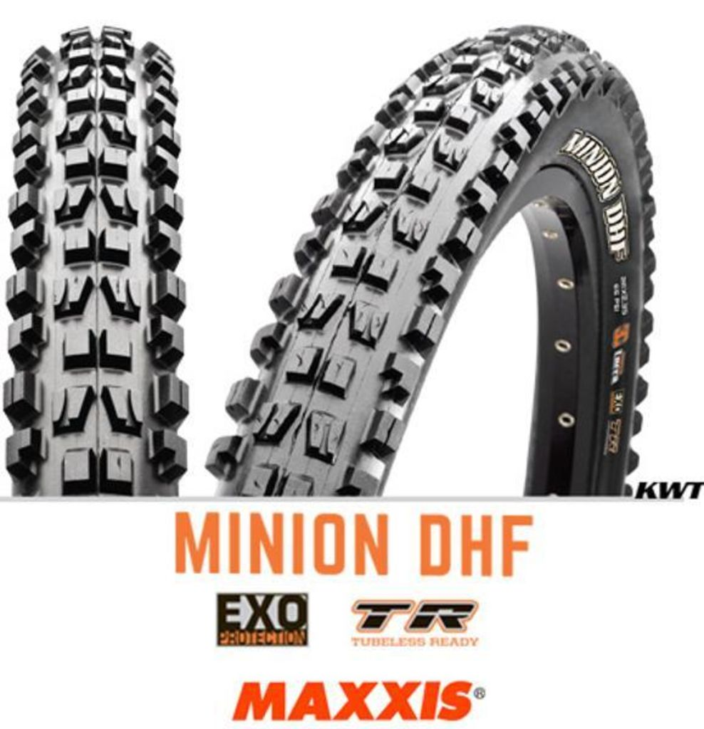 "Maxxis Minion Dhf Exo 3C Grip TR 27.5"" x 2.50 Tyre"