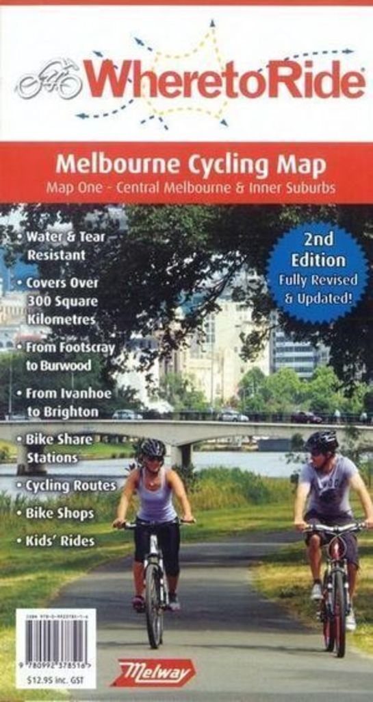Book Where To Ride Melbourne Cycling Map