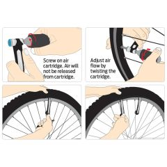 Azur Airon 2 in 1 Co2 Inflator and Tyre Lever Set