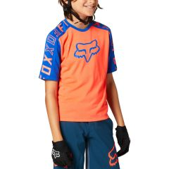 Fox Youth Ranger DR Short Sleeve Jersey 2021 - Atomic Punch