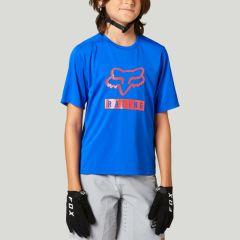 Fox Youth Ranger Short Sleeve Jersey 2021 - Blue