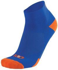 M2O Low Rise Socks -Blue/Orange  XL