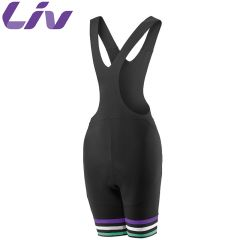 Liv Signature Womens Bib Shorts -Black/Purple/Green