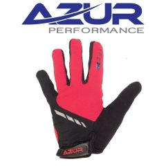 Azur L25 Full Finger Gloves -Red  S
