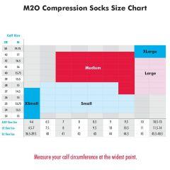 M2O Band 3 Quarter Socks -Black/Pink  L