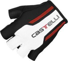Castelli S. Due 1 Gloves -Black/White/Red  S
