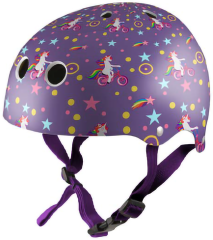 Kiddimoto Helmet -Purple Unicorn  S