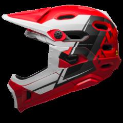 Bell Super DH MIPS Helmet - Red/White/Black - Large