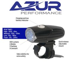 Azur 300 Lumens Bike Light