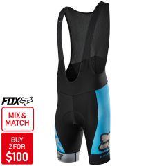 Fox Ascent Pro Bib Shorts [Colour: Blue] [Size: XL]