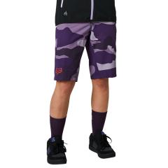 Fox Womens Ranger Shorts 2021 - Refuel Dark Purple Camo