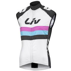 Liv Race Day Windbreaker Womens Vest - White/Black