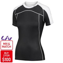 Liv Passion Jersey [Colour: Black/White] [Size: M]