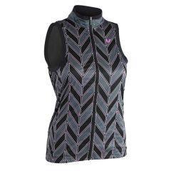 Liv Signature Women's Windbreaker Vest - Grey/Pink