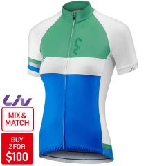 Liv Capitana Jersey [Colour: Blue/Green] [Size: L]