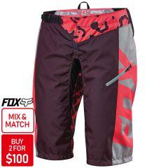 Fox Demo DH Womens Shorts 2016 [Colour: Neon Red] [