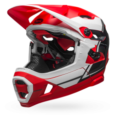 Bell Super DH MIPS Helmet - Red/White/Black - Mediu