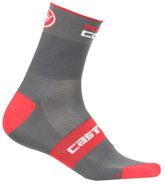 Castelli Rosso Corsa 13 Socks - Anthracite/Red