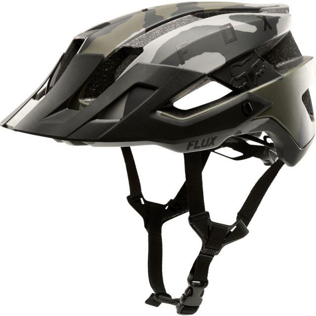 Fox Flux Solid Helmet - Green Camo