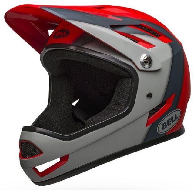 Bell Sanction Full Face Helmet - Crimson/Slate/Grey