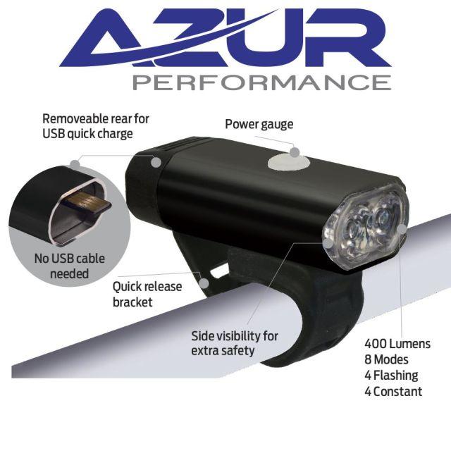 Azur Fusion 400 USB Front Light (400 Lumens)
