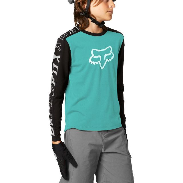 Fox Youth Ranger DR Long Sleeve Jersey 2021 - Teal