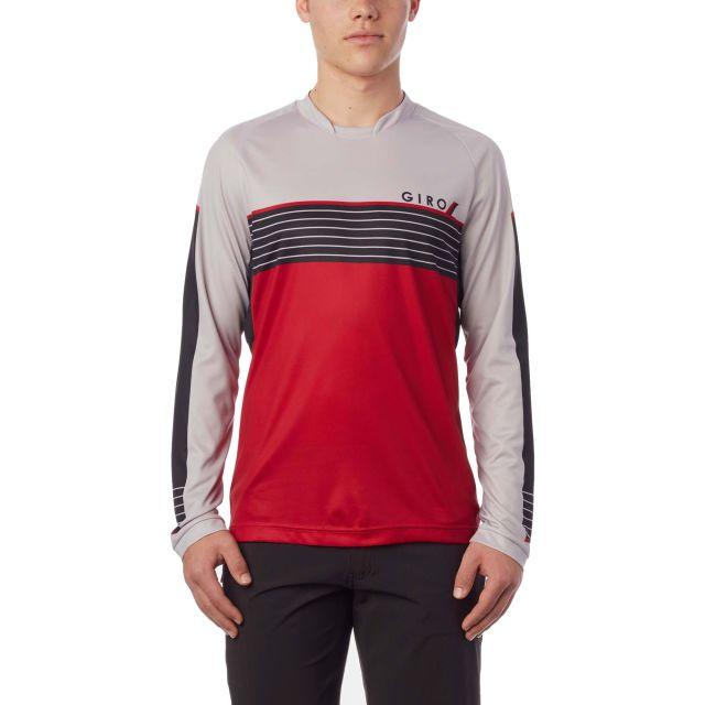 Giro Roust Longsleeve Jersey - Dark Red