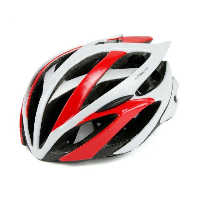 Netti Phoenix Road Helmet – White/Red