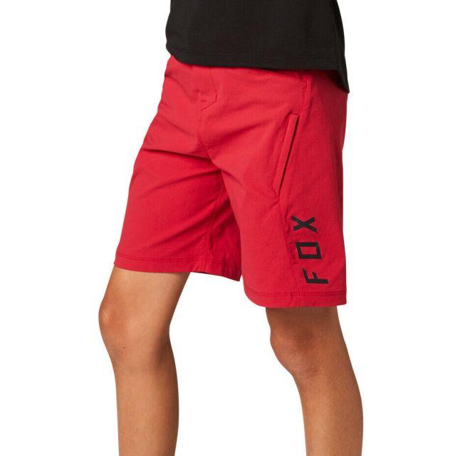 Fox Youth Ranger Kids Shorts 2021 - Chili Red