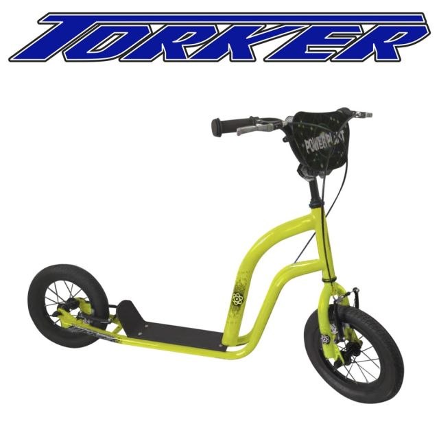 Kids blow up tyre scooter - yellow