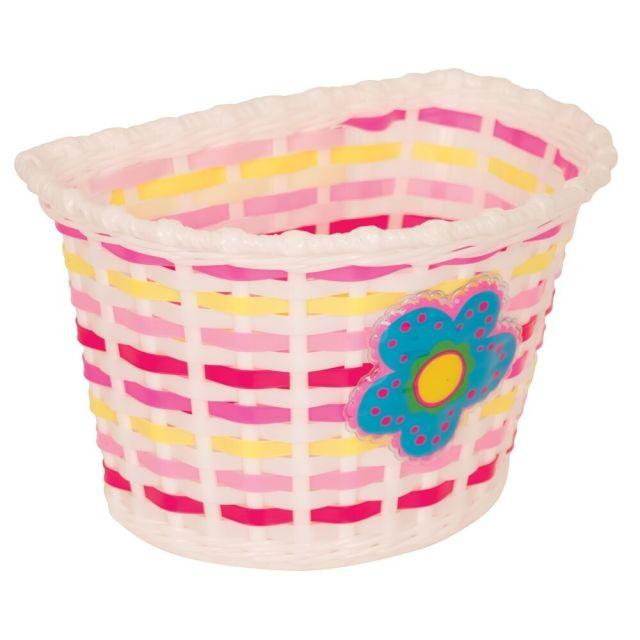 Bikecorp Kids Flower Plastic Weave Front Basket