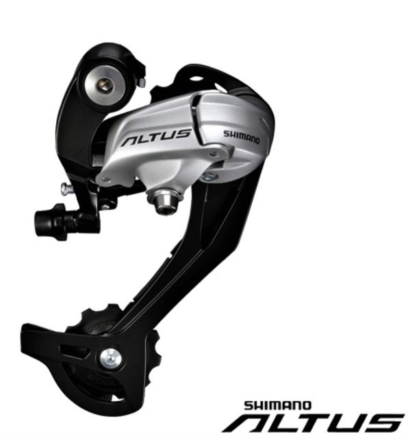 9s Shimano Altus M370 SGS Rear Derailleur Silver-01