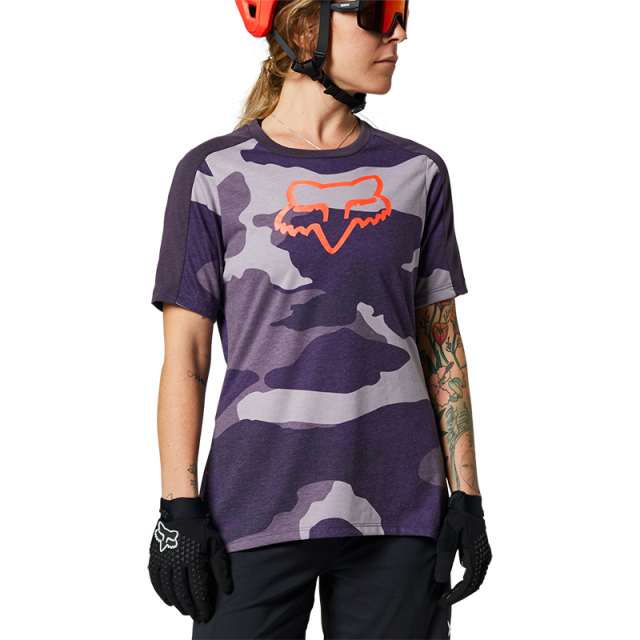 Fox Womens Ranger DriRelease Jersey 2021 - Refuel Dark Purple Camo