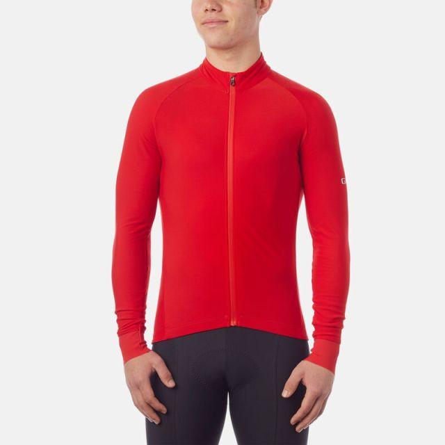 Giro Chrono Thermal Long Sleeve Mens Jersey - Red