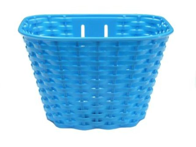 Kids Plastic Front Basket Blue