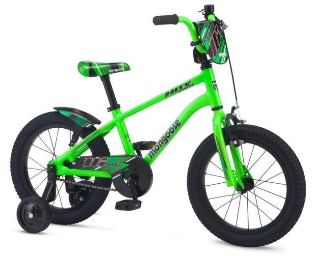 "16"" Mongoose Mitygoose Boys - Green"