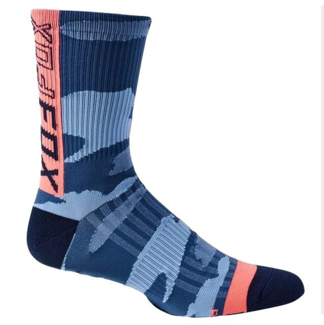 "Fox 6"" Ranger Socks - Refuel Blue Camo"