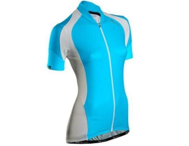 Sugoi RPM Womens Short Sleeve Jersey -Cyan  L