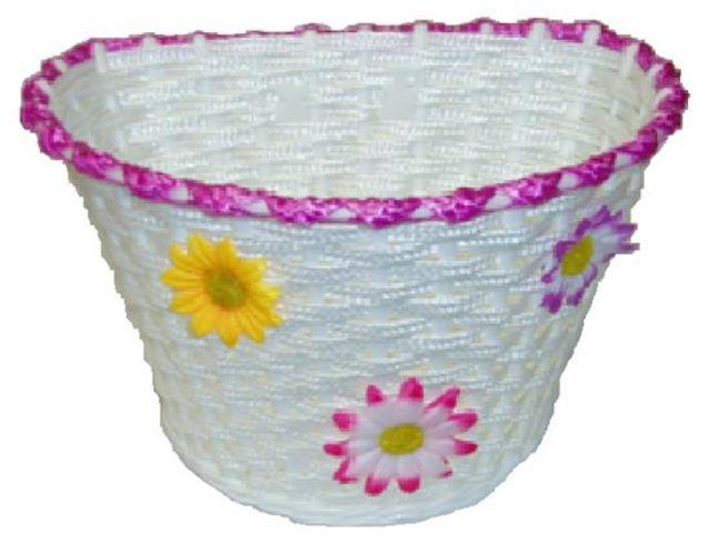 Kids Plastic Front Basket Flower