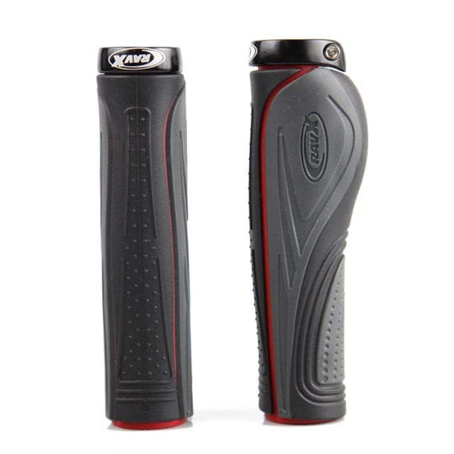 RavX Comfy X Lock Ergonomic Grips - Grey/Red