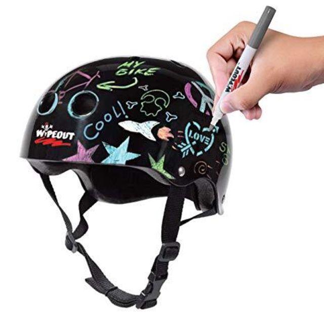 Wipeout Dry Erase Kids Helmet -Fluro Yellow  S