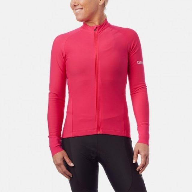 Giro Chrono Thermal Long Sleeve Womens Jersey - Pink