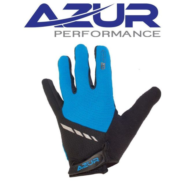Azur L25 Full Finger Gloves -Blue  S