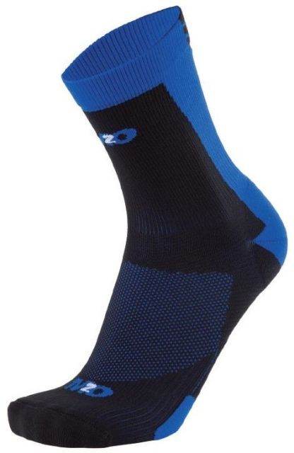 M2O Shield 3 Quarter Socks -Black/Blue  L