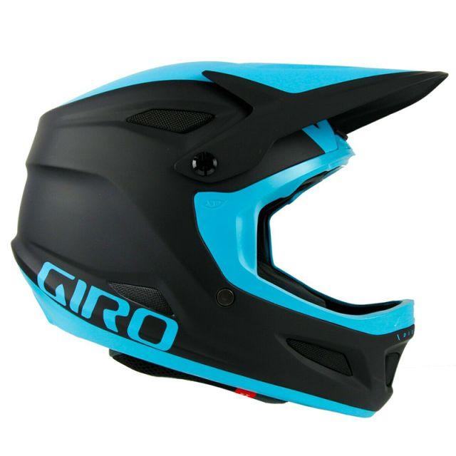 Giro Disciple MIPS Full Face Helmet - Matt Black/Iceberg Blue