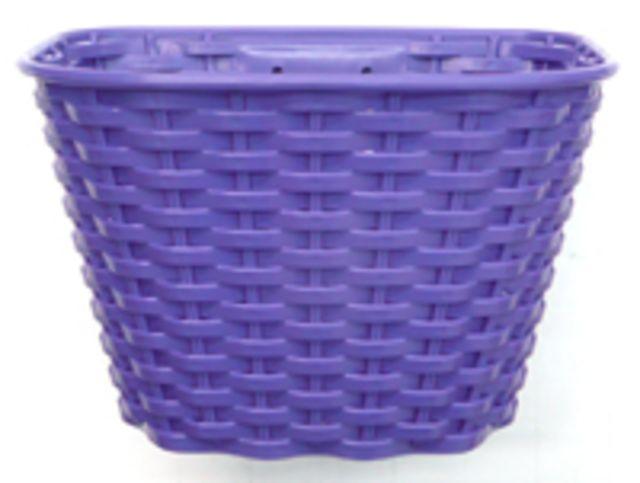 Kids Plastic Front Basket Purple